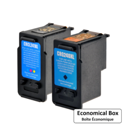 Canon PG-240XL CL-241XL Remanufactured Ink Cartridge High Yield Combo - Economical Box