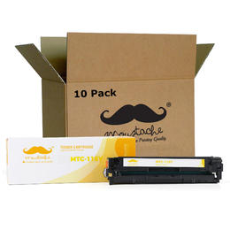 Canon 116Y 1977B001AA Remanufactured Yellow Toner Cartridge - Moustache® - 10/Pack