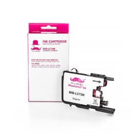 Brother LC75M Compatible Magenta Ink Cartridge High Yield - Moustache® - 1/Pack