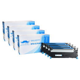 Samsung CLT-C407S Compatible Cyan Toner Cartridge - Moustache® - 4/Pack