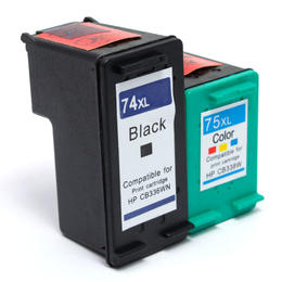 Remanufactured HP 74XL CB336WN HP 75XL CB338WN Black and Color Ink Cartridge Combo - G&G™