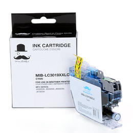 Brother LC3019C Compatible Cyan Ink Cartridge Extra High Yield - Moustache®
