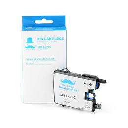 Brother LC79C Compatible Cyan Ink Cartridge Extra High Yield - Moustache®