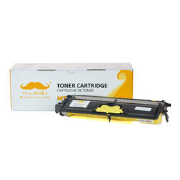 Brother TN210Y Compatible Yellow Toner Cartridge - Moustache® - 1/Pack