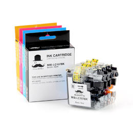 Brother LC107 LC105 Compatible Ink Cartridge Combo BK/C/M/Y - Moustache®