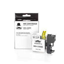 Brother LC65BK Compatible Black Ink Cartridge High Yield - Moustache®