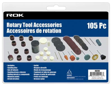 ROK 105 piece Rotary Tool Accessories Kit