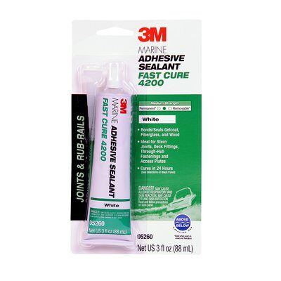 3M MARINE ADHESIVE/SEALANT FAST CURE 4200 88ML TUBE  WHITE