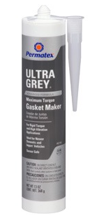 PERMATEX ULTRA GREY® RIGID HIGH-TORQUE RTV SILICONE GASKET MAKER