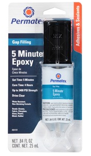 Permatex 5 Minute Gap Filling Epoxy
