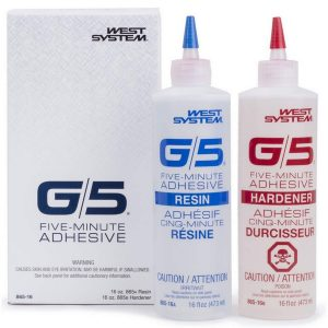 WEST SYSTEM G/5 FIVE-MINUTE ADHESIVE 1/2 PINT