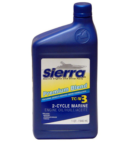 "Sierra  ""BLUE"" PREMIUM TC-W3 2-CYCLE ENGINE OIL 946ml"