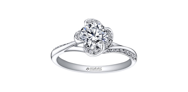 .72 Round Brilliant Cut Diamond Engagement Ring