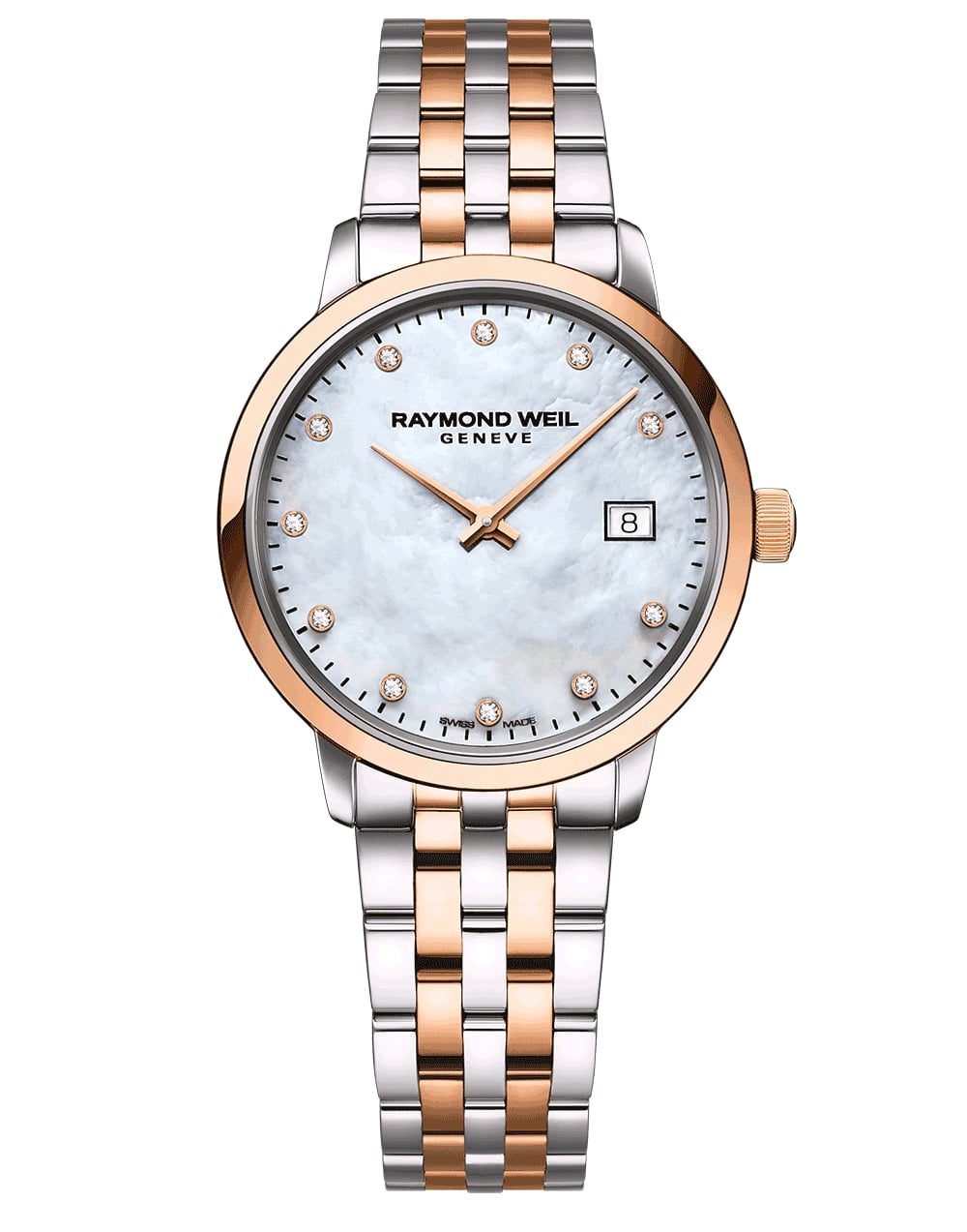 Ladies Ladies Diamond Rose Gold Quartz Watch