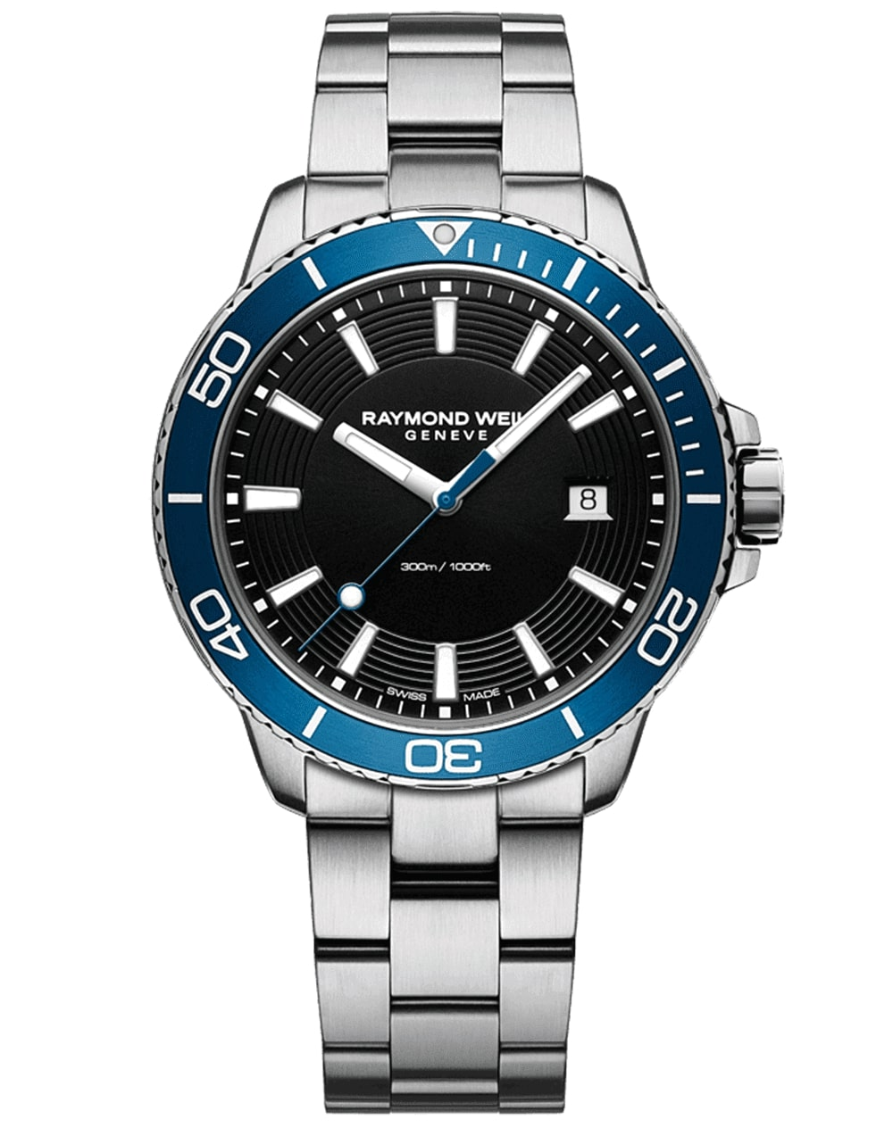 Men's Steel Blue Diver Quartz Watch