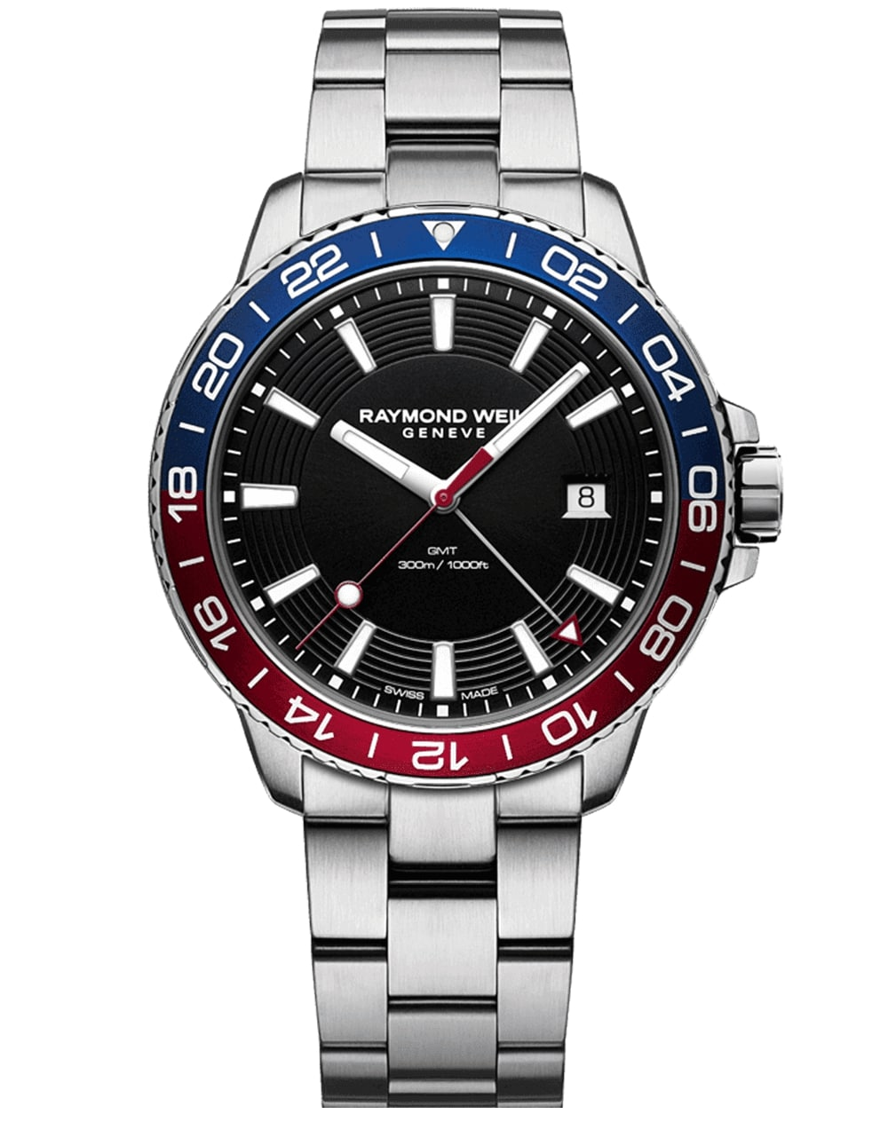 Men's Steel Men's Blue Red Diver Watch