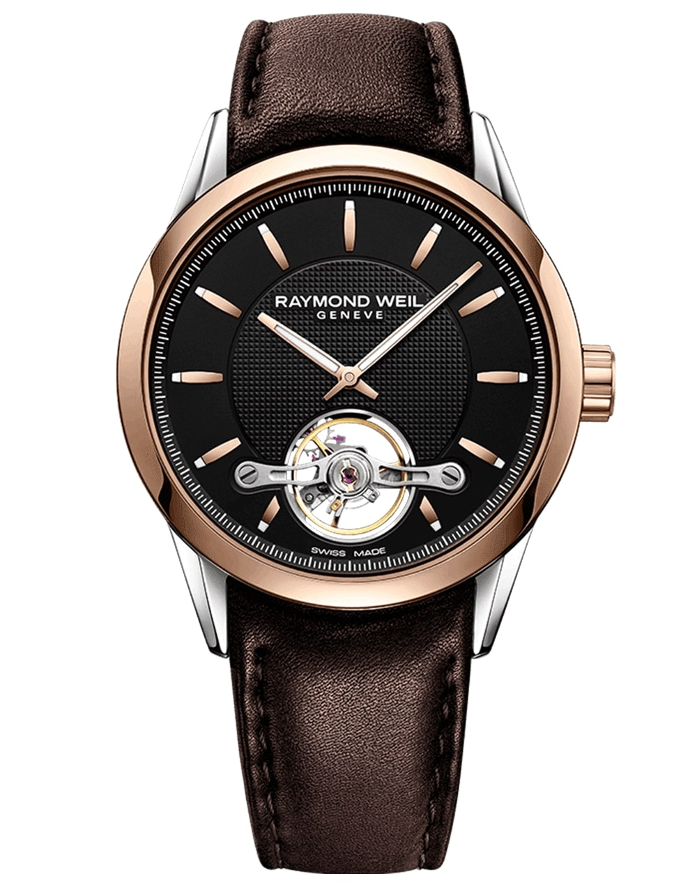 Men's Rose Gold Automatic Raymond Weil Watch