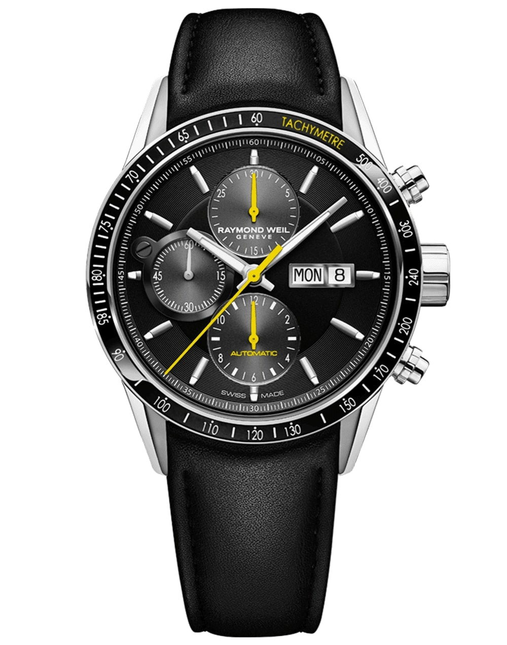 Men's  Black Automatic Chronograph Raymond Weil Watch