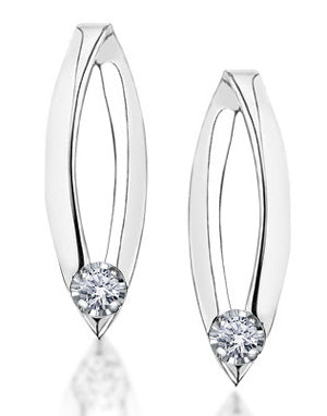 White Gold with Diamond Earrings