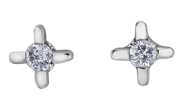 Star Set Diamond Stud Earrings