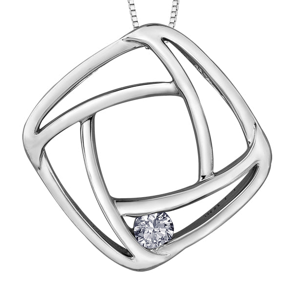 White Gold Diamond Pendant Necklace
