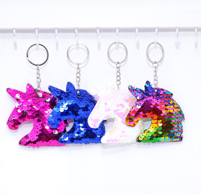 Reversible sequin Unicorn Keychains!