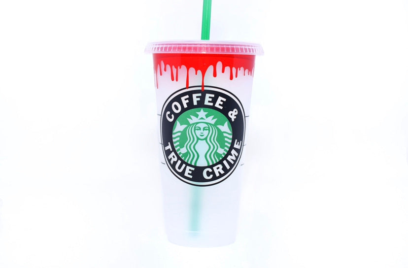 Coffee & True Crime Starbucks Cold Cup