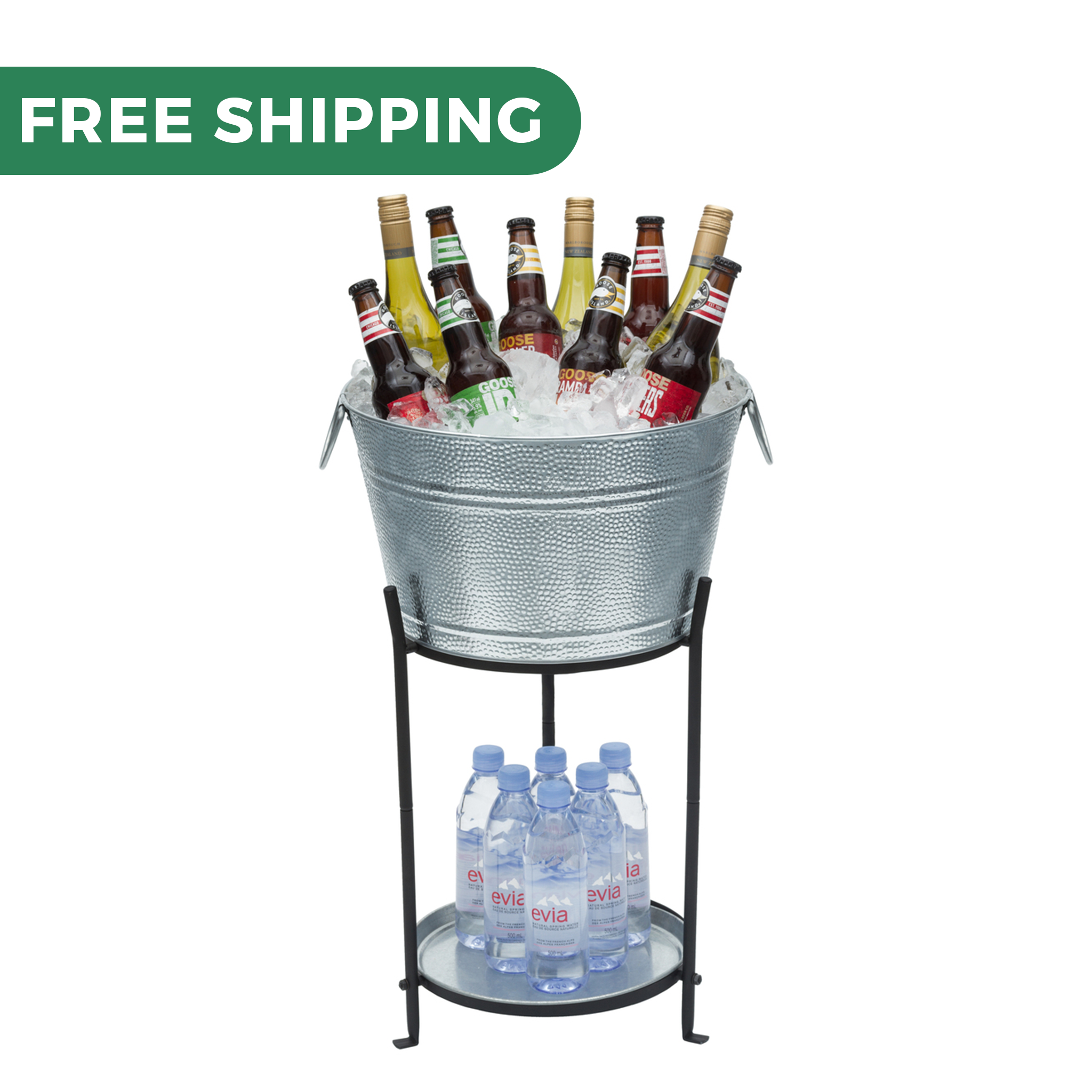 Picture of: Beverage Tub With Stand And Tray By Saratoga Home