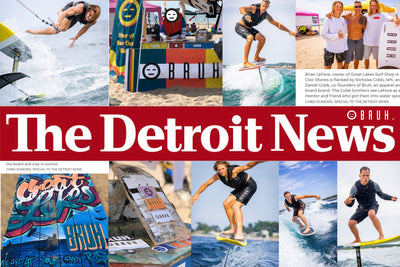 Attend the Great Lakes Surf Festival then featured in The Detroit News... yuh.