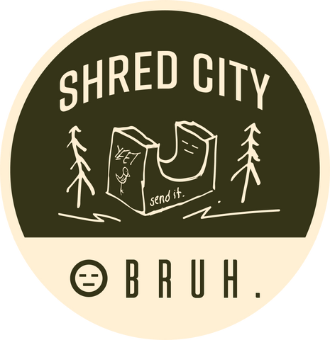 shred city - windbreaker - BRUH.