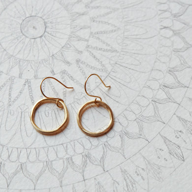 brass circle hoops small