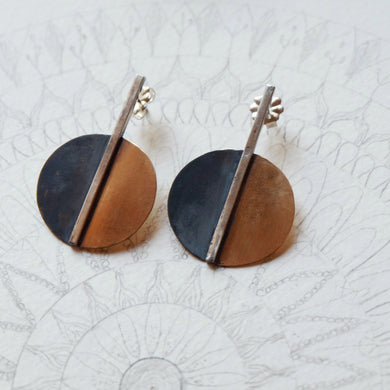 moonphase statement earrings