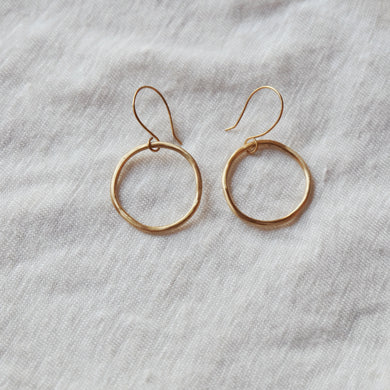 brass circle hoops medium
