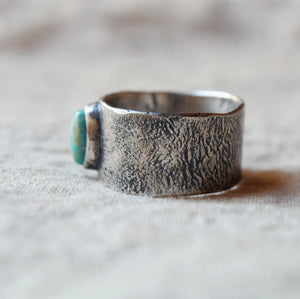 wide band w/ turquoise size 7.25