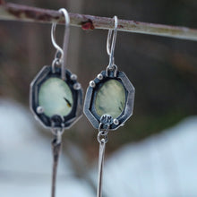 Load image into Gallery viewer, prehnite earrings