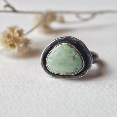 turquoise statement ring - size 8
