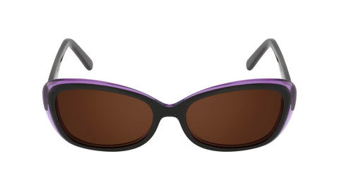 Bordeux black mulberry acetate women's sunglasses