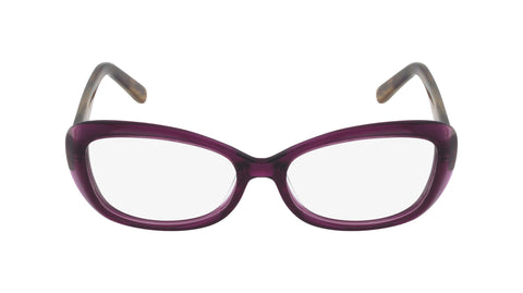calais women's purple brown acetate glasses