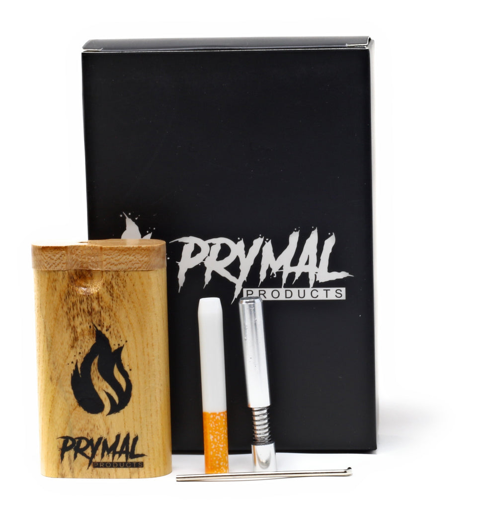 Wooden Dugout and two one-hitters with storage pouch - Prymal Products