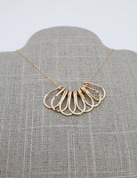 Gold fill layered bib style necklace