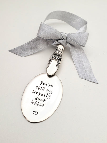 Custom stamped engraved spoon ornament vintage spoon