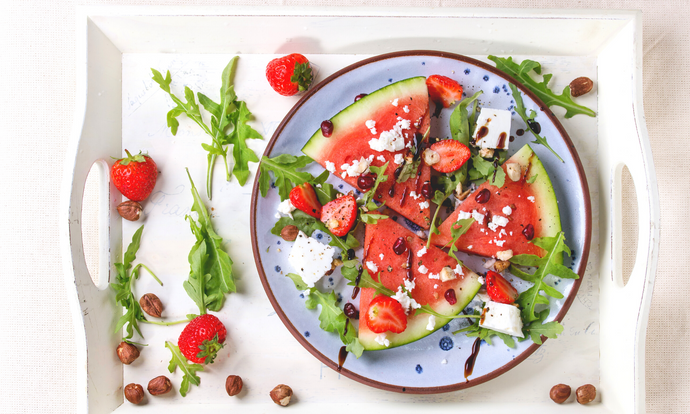 Grilled Watermelon Salad with Feta