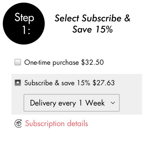 step 1: select subscribe & save