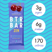 Load image into Gallery viewer, Cherry Chocolate Chip ZEN (12 Bars) + Bonus E-Book