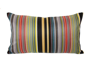 Maharam Paul Smith Stripes Reverberating Pillow Vertical Stripes Jaspid Studio