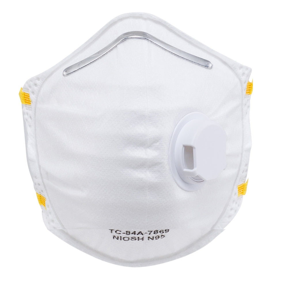 1809 (10-pack) N95 Disposable Dust Masks - Foldable Style w/ Valve