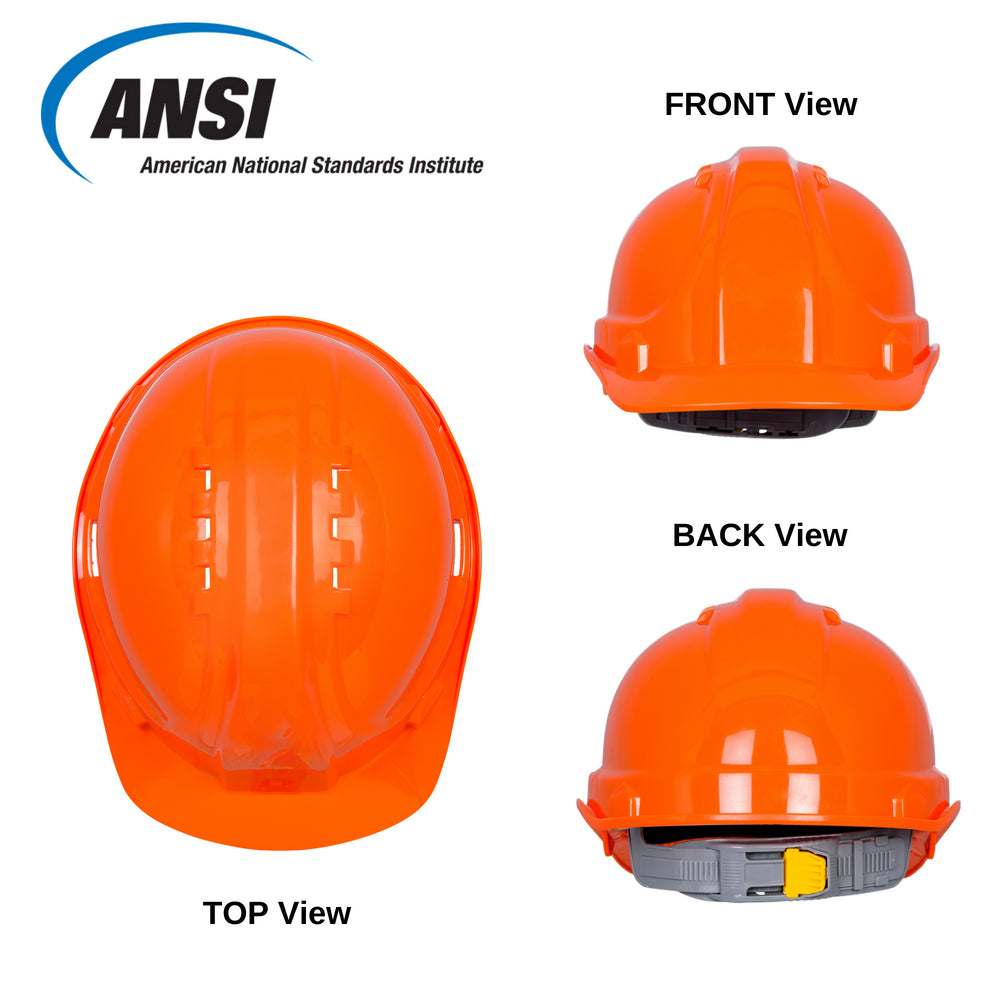 SH01-ORA Vented Hard Hat - Orange