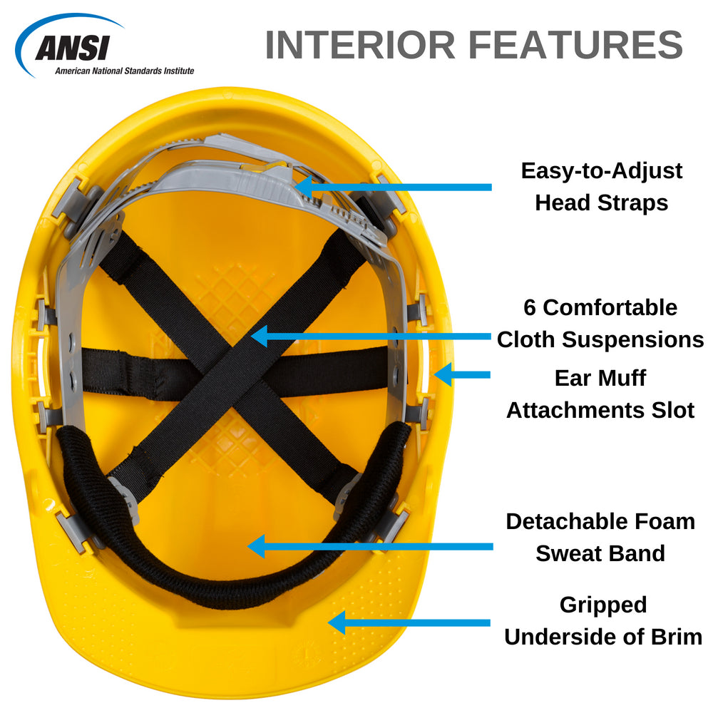 SH01-YEL Vented Hard Hat - Yellow