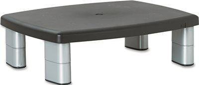 3M Adjustable Height Monitor Stand' 12 In. X 15 In. X 1-5 7/8 In.' Black And Silver