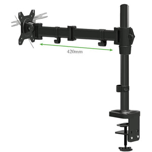 YS-D28C Adjustable Arms Desk Mount Clamp Table installation Black